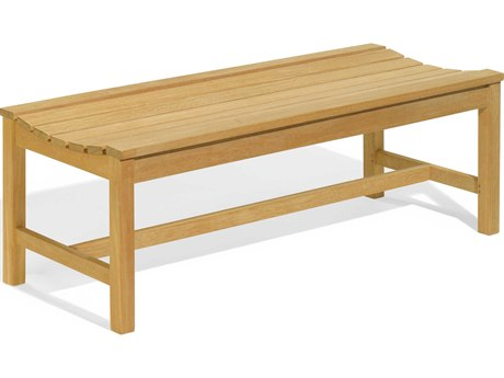 Oxford Garden Backless Natural Wood Bench