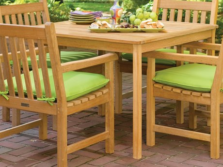 Oxford Garden Chadwick 42'' Wide Wood Square Umbrella Hole Dining Table