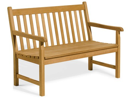 Oxford Garden Classic Teak Natural 4' Wide Bench