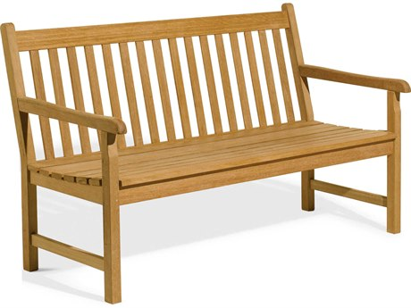 Oxford Garden Classic Teak Natural 5' Wide Bench