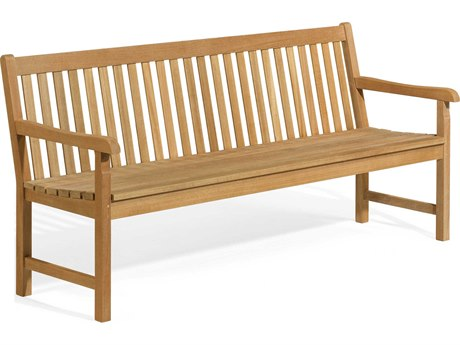 Oxford Garden Classic Teak Natural 6' Wide Bench