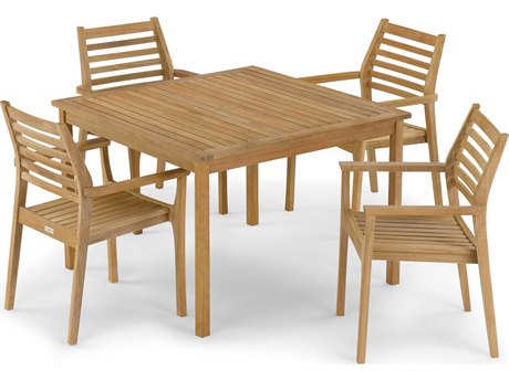 Oxford Garden Classic & Mera Wood Dining Set
