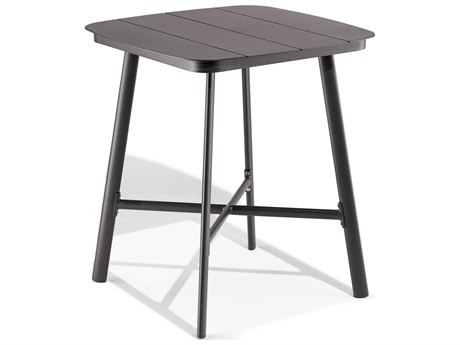 Oxford Garden Eiland Aluminum Carbon 36''Wide Square Bar Table