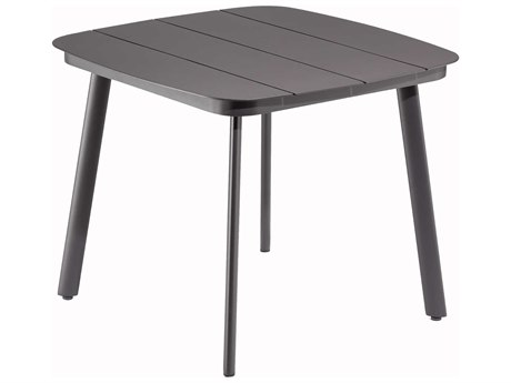 Oxford Garden Eiland 36'' Wide Aluminum Square Dining Table