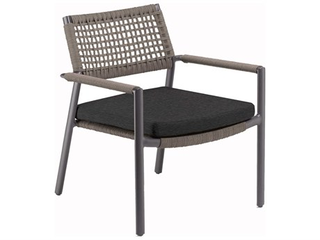 Oxford Garden Eiland Aluminum Cushion Lounge Chair with Pepper Cushion (Set of 2)