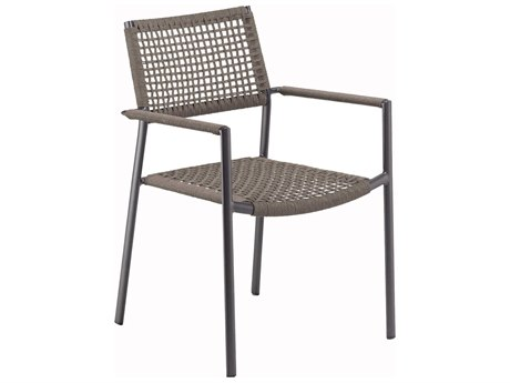Oxford Garden Eiland Aluminum Strap Dining Chair (Set of 2)