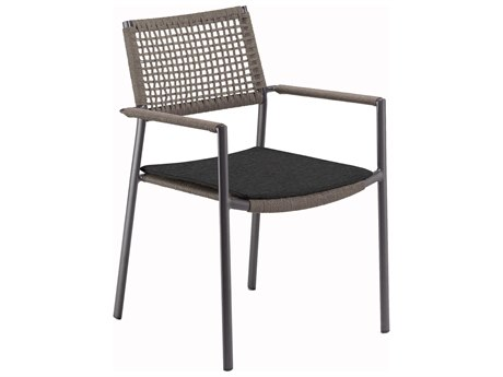Oxford Garden Eiland Aluminum Cushion Dining Chair with Pepper Pad (Set of 2)