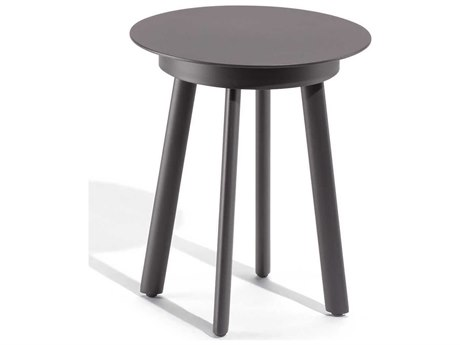 Oxford Garden Eiland 16'' Wide Aluminum Round End Table