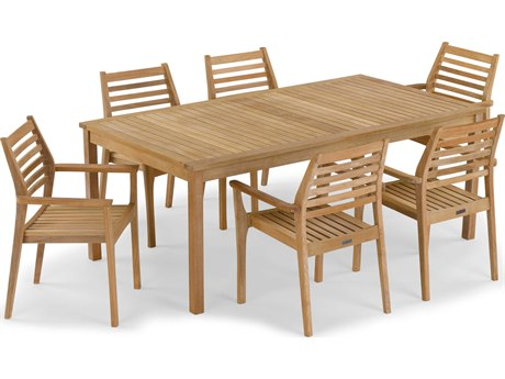 Oxford Garden Hampton & Mera Wood Dining Set