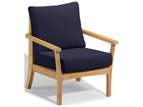 Oxford Garden Mera Wood Cushion Lounge Chair