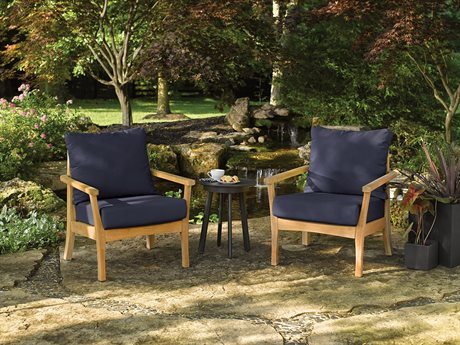 Oxford Garden Mera & Eiland Wood Cushion Lounge Set