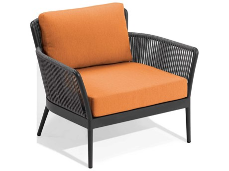 Oxford Garden Nette Aluminum Carbon / Tangerine Lounge Chair