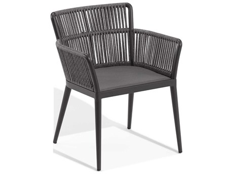 Oxford Garden Nette Aluminum Carbon / Ninja Dining Arm Chair