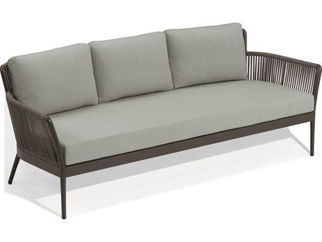 Oxford Garden Nette Aluminum Carbon / Seafoam Sofa
