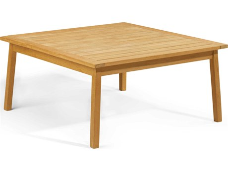 Oxford Garden Siena 42'' Wide Wood Square Chat Table