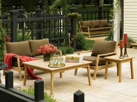 Oxford Garden Siena Wood Cushion Lounge Set