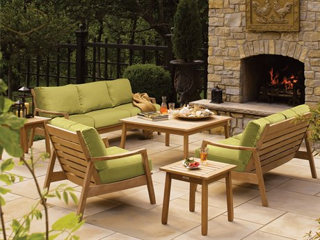 Oxford Garden Siena Wood Cushion Lounge Set