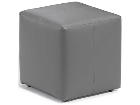 Oxford Garden Salino Nauticau Synthetic Leather Aluminum Ottoman