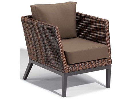 Oxford Garden Salino Aluminum Cushion Lounge Chair with Toast Cushion