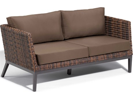 Oxford Garden Salino Aluminum Cushion Loveseat with Toast Cushion