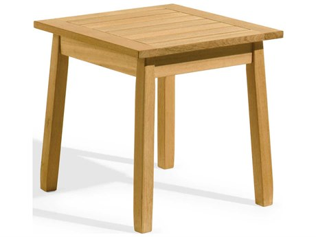 Oxford Garden Siena 19'' Wide Wood Square End Table