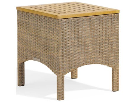 Oxford Garden Torbay 18'' Wide Wicker Square End Table