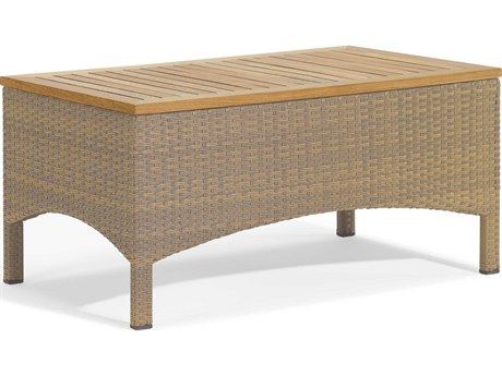 Oxford Garden Torbay 41'' Wide Wicker Rectangular Coffee Table