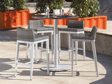 Oxford Garden Travira & Argento Aluminum Dining Set