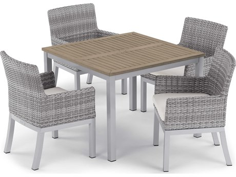 Oxford Garden Travira & Argento Aluminum Dining Set
