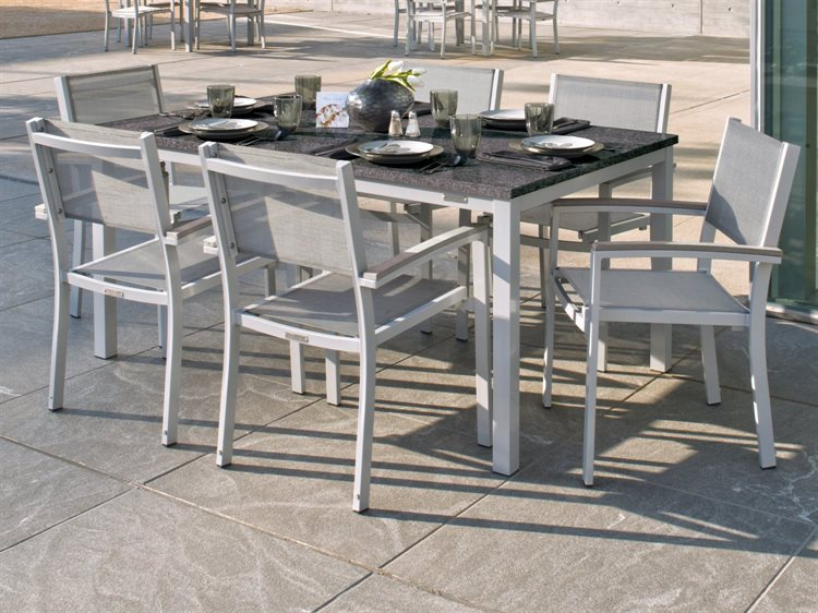 Oxford Garden Travira Aluminum Fabric Dining Set