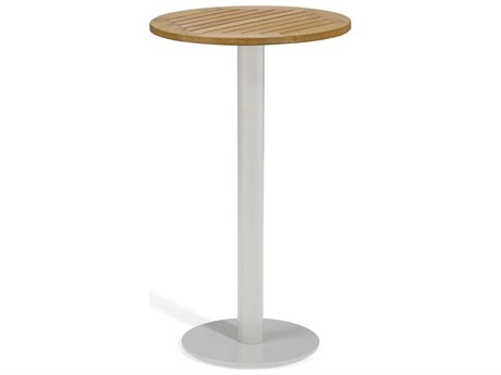 Oxford Garden Travira 24'' Wide Aluminum Round Bar Table
