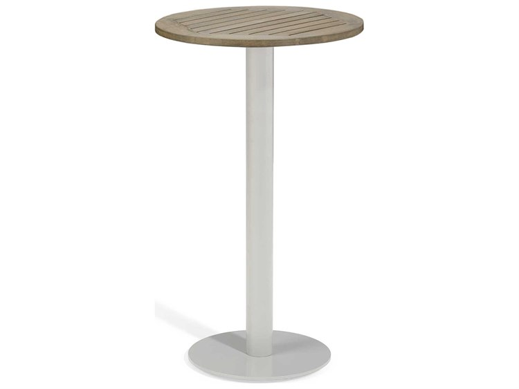 Oxford Garden Travira 24'' Wide Aluminum Round Bar Table PatioLiving