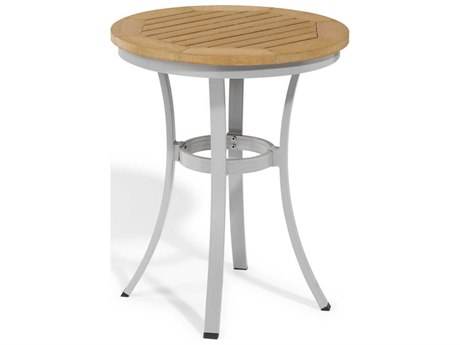 Oxford Garden Travira 24'' Wide Aluminum Round Bistro Table