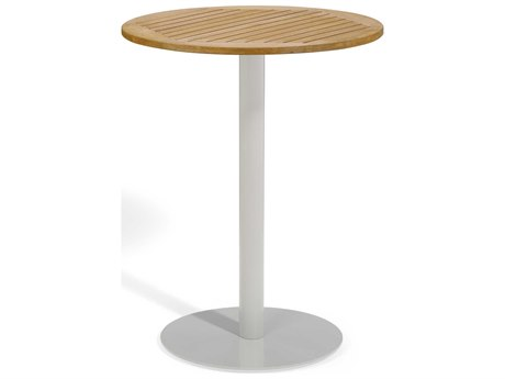 Oxford Garden Travira 32'' Wide Aluminum Round Bar Table