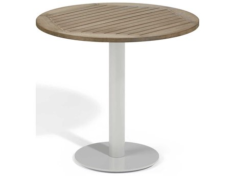 Oxford Garden Travira 32'' Wide Aluminum Round Bistro Table