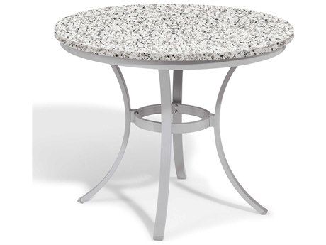 Oxford Garden Travira 36'' Wide Aluminum Round Bistro Table