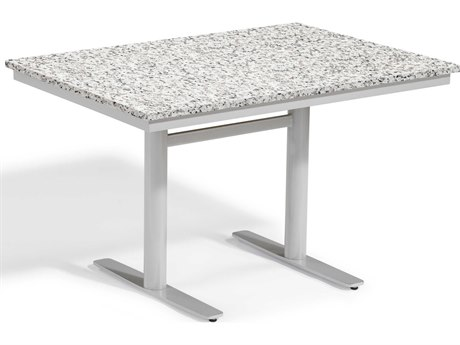 Oxford Garden Travira 49'' Wide Aluminum Rectangular Bistro Table