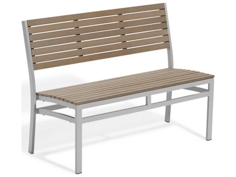 Oxford Garden Travira Vintage Aluminum Resin Bench