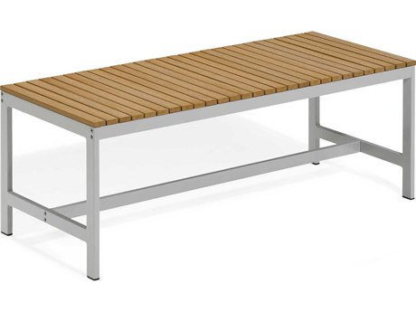 Oxford Garden Travira Natural Aluminum Resin Bench