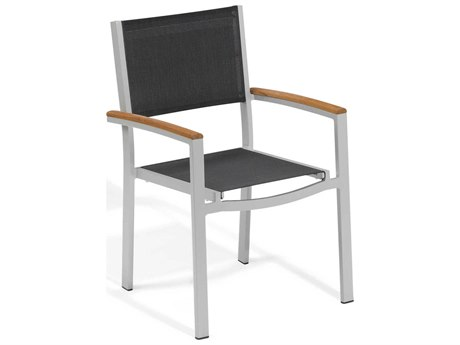 Oxford Garden Travira Aluminum Sling Dining Chair (Set of 2)