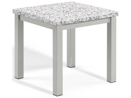 Oxford Garden Travira 17'' Wide Aluminum Square End Table