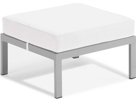 Oxford Garden Travira Aluminum Cushion Ottoman
