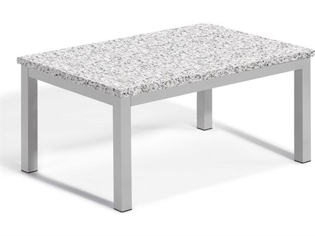 Oxford Garden Travira 41'' Wide Aluminum Rectangular Coffee Table
