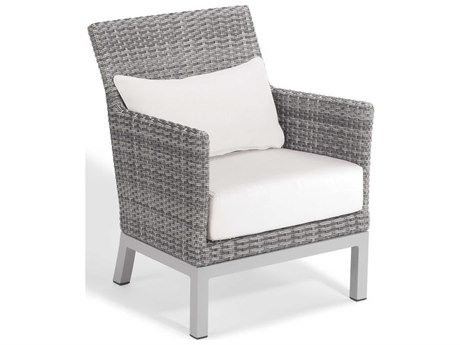 Oxford Garden Argento Aluminum Cushion Lounge Chair with Lumbar Pillow (Set of 2)