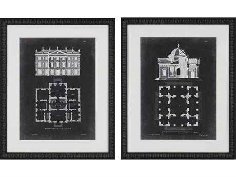 Paragon Gibbs Graphic Buildings I Giclee Painting (Two-Piece Set)