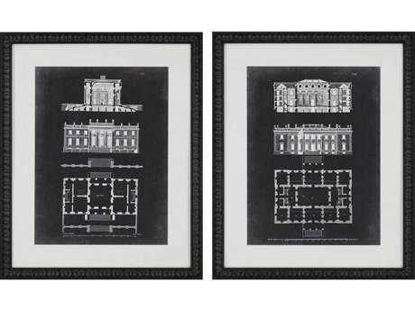 Paragon Gibbs Graphic Buildings II Giclee Painting (Two-Piece Set)