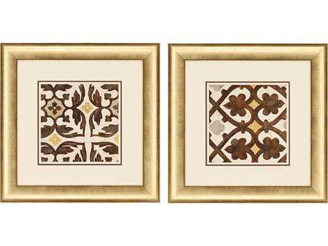 Paragon Fisk Winery Villa Tile I Painting (Two-Piece Set)