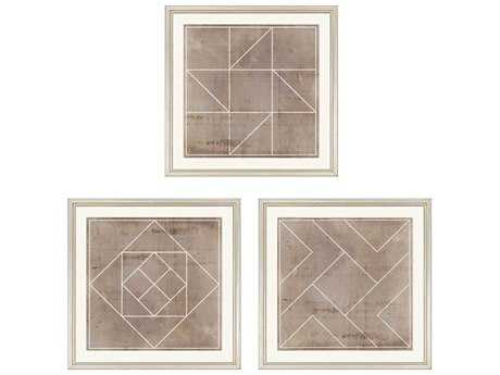 Paragon Vision Studio Geometric II Giclee Painting (Three-Piece Set)