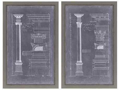 Paragon Chippendale Blueprint I Giclee Painting (Two-Piece Set)