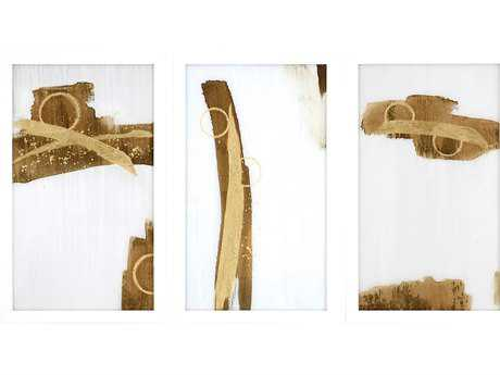 Paragon Jardine Set of 3 ''Gold Rush I'' Wall Art